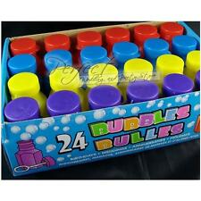 24 Party Prefilled Bubble Coloured Pots Ideal For Childrens Party Bag Fillers
