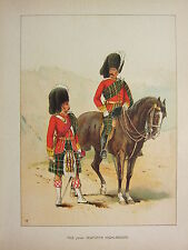 1905 ANTIQUE MILITARY PRINT ~ 72nd SEAFORTH HIGHLANDERS ~ BRITISH IMPERIAL FORCE