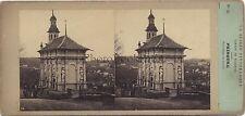 Fribourg Suisse Stéréo photo par Furne & Tournier Vintage Albumine ca 1860
