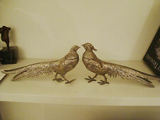 Pair of Metal Large Pheasants - Menu/Name Card Holders 17/74