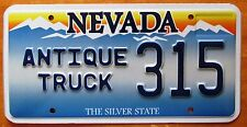 Nevada 2007 ANTIQUE TRUCK License Plate SUPERB QUALITY # 315