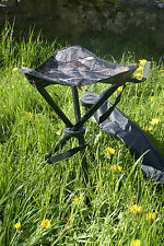 Tree Deep Camo Camouflage Folding Fishing or Shooting Hide Tripod Seat Stool