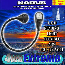 NARVA 87684BL LED MAP & READING LIGHT FLEXIBLE ARM 12V 24V 12 24 VOLT NEW L.E.D