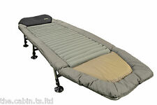 Carp Fishing Bed Chair Bedchair Camping Heavy Duty 6 Adjustable Legs