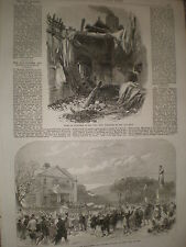 Ruins at Old Ford Bow London & Salford manchester lifeboat 1868 prints ref Z1