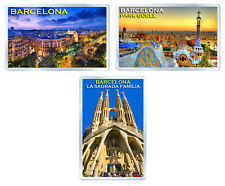 BARCELONA LOT OF 3 FRIDGE MAGNET SOUVENIR 3 IMANES NEVERA