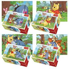 Trefl Mini 4 x 54 Pieces Kids Unisex Disney Winnie The Pooh Jigsaw Puzzle NEW