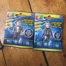 Dr Doctor Who Micro Figures Mini Figs New Sealed in Bag 11th Doctor + Amy Pond