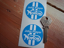John Player Norton Motocicleta pegatinas Blue & White 50mm Commando Jps Especial