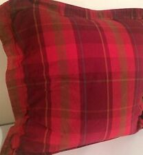 Ralph Lauren Chaps Summerton Plaid Euro Sham French Country  Mint 3 Available