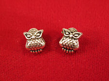 """10pc """"Owl"""" european charms in antique silver style (BC98)"""