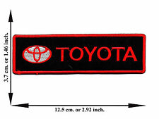 Black + Red Toyota Car Racing Automobile Motor Logo Applique Iron on Patch Sew