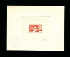 Somali Coast 1965 Medicine TB Scott B16 Signed Sunken Die Artist Proof in Red