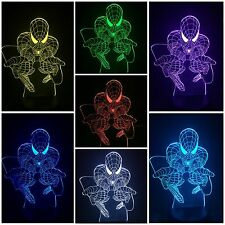 SPIDERMAN - LED Desk 3D Light USB Touch Illusion 7 Color Change Night Lamps