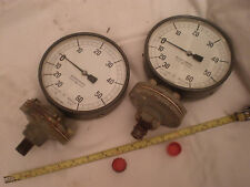 "Vintage BUDENBERG pressure and vacuum dial.6"" dia. Traction engine.? 2 available"