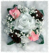 CAKE TOPPER ~ CUSTOM in YOUR COLORS  ~ Roses Silk Wedding Flowers Centerpieces