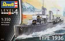 Revell 1/350 German Destroyer Type 1936 Plastic Model Kit 05141