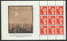 (SC1) GB QEII Stamps. The Scots Connection Prestige Booklet Pane ex DX10 1989