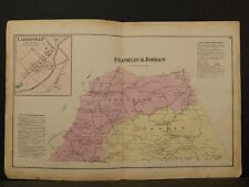 Pennsylvania, Lycoming County Map, 1873 Township of Franklin & Jordan Y2#27