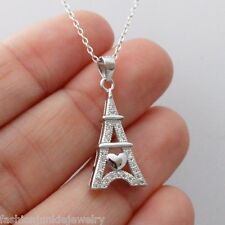 Eiffel Tower Pendant Necklace - 925 Sterling Silver - Paris France Landmark NEW