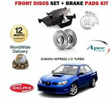 FOR SUBARU IMPREZA 2.5i WRX TURBO 2005-2007 FRONT BRAKE DISCS SET+ DISC PADS KIT