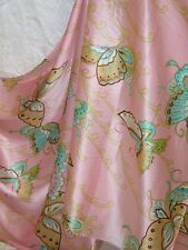 100% Silk Charmeuse Fabric Pink Butterfly Per Yard
