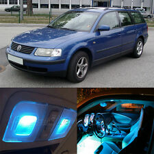 16X Error Free Ice Blue Interior SMD LED Light Kit for VW Passat B5 1997-2005