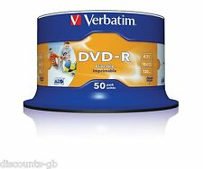 Verbatim 43533 DVD-R 4.7 GB 16X STAMPABILE - 50 Pack Spindle