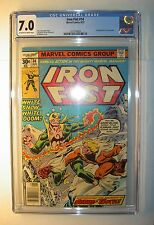 Iron Fist #14 CGC 7.0, FN/VF,1977 Marvel,1st app Sabertooth/Sabretooth,Claremont