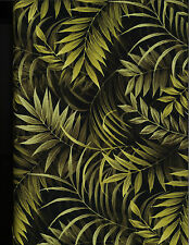 Wild Things Jungle Fern Leaves Cotton Quilt Fabric by P&B Textiles  Green 34