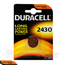 1 x Duracell Lithium CR2430 3V Coin Cell battery DL2430 ERC2430 K2430L EXP:2025