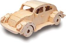 VW de estilo vintage y retro coche 3D Kit Modelado Madera Rompecabezas Modelo
