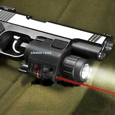 Tactical Combo Led Flashlight Lights Red Laser Sight fit for Gun Pistol Glock