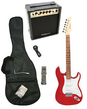 RED-MET Electric Guitar+15w AMP+Strap+Cord+Gigbag NEW