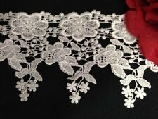 """2 Yards, Beautiful Flower and Leaf Venise Lace Trim, 4.5"""" Inches"""