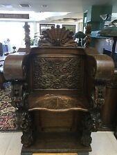 Antique Carved Church Pew