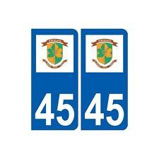 45 Saint-Denis-en-Val logo  ville autocollant plaque stickers arrondis