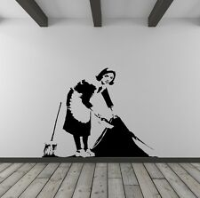 Banksy Cleaner Vinyl Wall Decal for Home Decor / Interior Design / Bedroom / ...