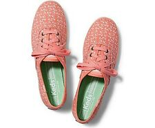 NEW ARRIVAL! KEDS CHAMPION BOTANICAL LEAVES CORAL MELON SHOES SNEAKERS 7 37.5