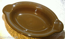 NEW FIESTAWARE CHOCOLATE BROWN INDIVIDUAL OVAL CASSEROLE BOWL FIESTA BAKER