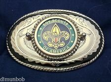 Boy Scouts of America (BSA)  Belt Buckle Western Style Black with Silver