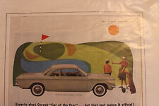 Vintage Chevy Chevrolet Corvair Ad 1960 Advertisment Print Saturday Evening Post