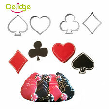 4pcs/set Creative Poker Shaped Stainless Steel Cookie Cutter Mold