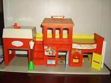 Vintage Fisher Price Fire house, Post Office & Theater