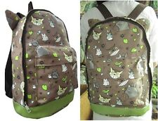 My Neighbor TOTORO Canvas Full Size Backpack with Ears Kawaii Anime 60297 Brown