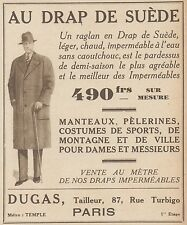 Z8374 Manteaux AU DRAP DE SUEDE - Pubblicità d'epoca - 1933 Old advertising