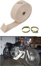 UNIVERSAL ROYAL BIKES EXHAUST SILENCER HEAT SINK COOLING WRAP 3m CREAM