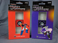 Transformers G1 Optimus Prime Megatron 3D Crystal Lighted LED Speaker Set NEW