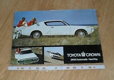 Toyota Crown 2600 Automatic Hardtop Coupe Brochure / Flyer 1974