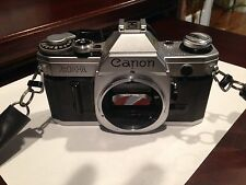 Canon AE-1 Black 35mm Film SLR Camera Body AE1 From Japan Working condition